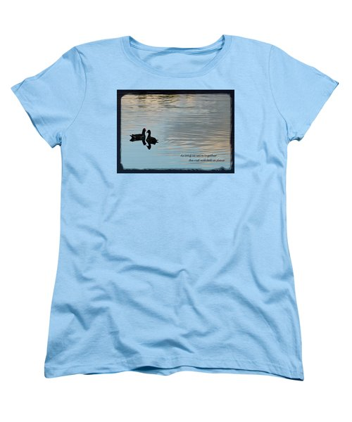 Women's T-Shirt (Standard Cut) featuring the photograph Together by Steven Sparks