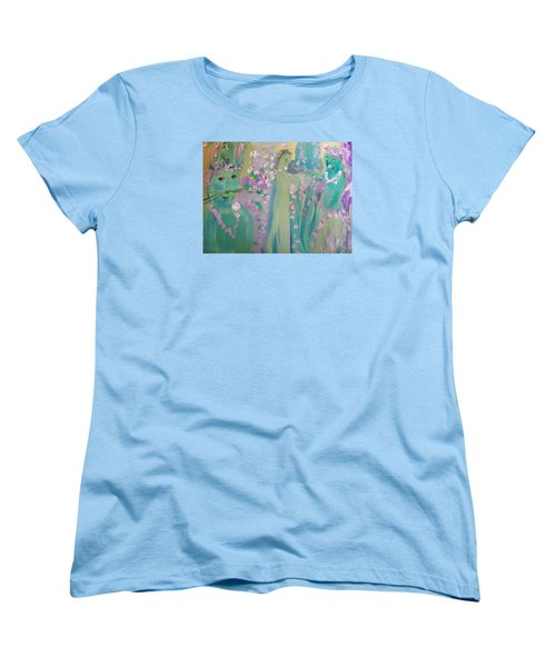 Women's T-Shirt (Standard Cut) featuring the painting Topiary Easter by Judith Desrosiers