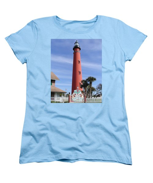 Women's T-Shirt (Standard Cut) featuring the photograph Towering Lighthouse by Barbara Middleton