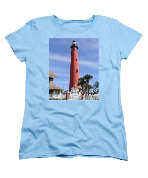 Towering Lighthouse Women's T-Shirt (Standard Cut) by Barbara Middleton