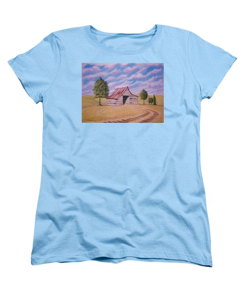 Women's T-Shirt (Standard Cut) featuring the pastel Tractor Shed by Stacy C Bottoms
