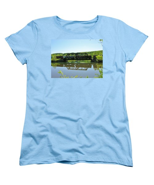 Women's T-Shirt (Standard Cut) featuring the photograph Train And Trestle by Sherman Perry