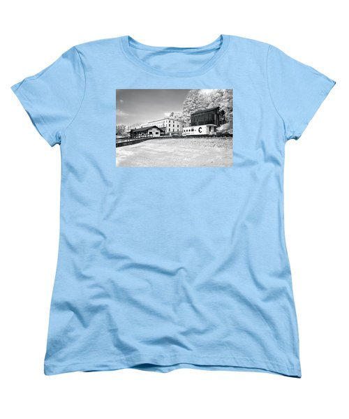 Women's T-Shirt (Standard Cut) featuring the photograph Train Depot by Mary Almond