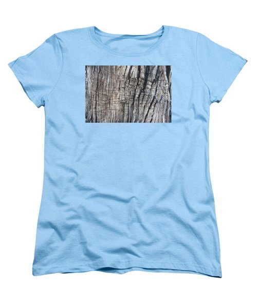 Women's T-Shirt (Standard Cut) featuring the photograph Tree Bark No. 1 Stress Lines by Lynn Palmer