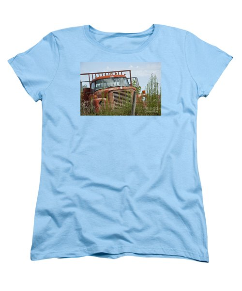 Turned Out To Pasture Women's T-Shirt (Standard Cut) by Wilma  Birdwell