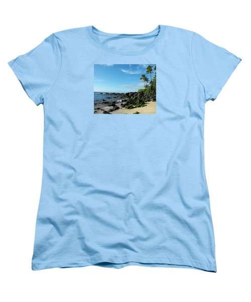 Turtle Beach Oahu Hawaii Women's T-Shirt (Standard Cut) by Rebecca Margraf