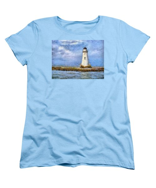 Women's T-Shirt (Standard Cut) featuring the painting Tybee Island Lighthouse by Lynne Jenkins