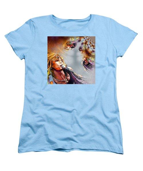 Tyler Mania Women's T-Shirt (Standard Cut) by Miki De Goodaboom