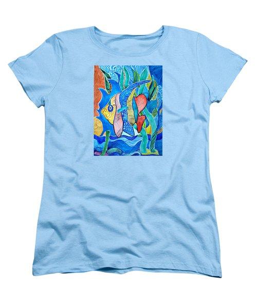 Under The Sea Women's T-Shirt (Standard Cut) by Sandra Lira