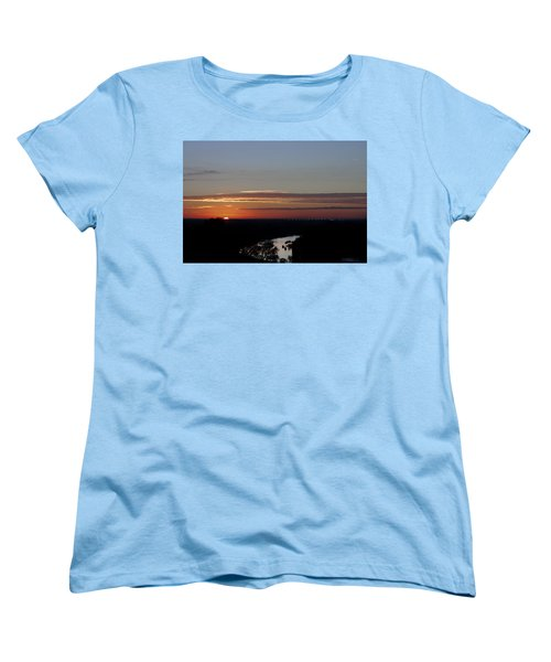 Women's T-Shirt (Standard Cut) featuring the photograph Vanishing Sunset by Maj Seda