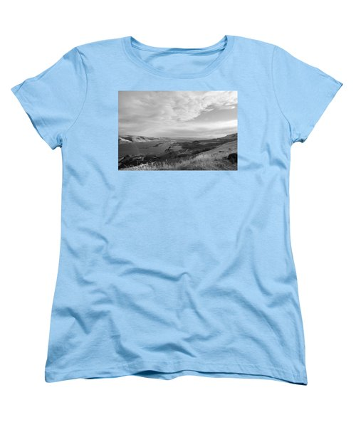 Women's T-Shirt (Standard Cut) featuring the photograph View From The Hill Columbia River by Kathleen Grace