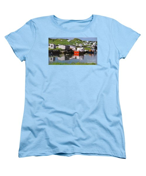 Women's T-Shirt (Standard Cut) featuring the photograph Villiage by Lydia Holly