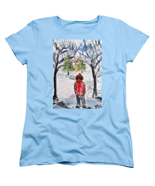 Walking Alone Women's T-Shirt (Standard Cut) by Evelina Popilian