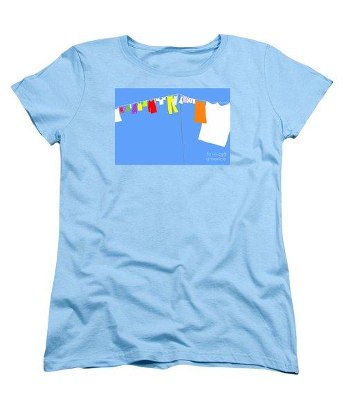 Washing Line Simplified Edition Women's T-Shirt (Standard Cut) by Barbara Moignard