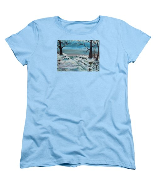 Washoe Winter Women's T-Shirt (Standard Cut) by Dan Whittemore