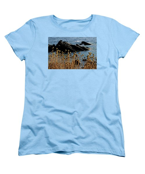 Women's T-Shirt (Standard Cut) featuring the photograph Watching The Sea 1 by Pedro Cardona