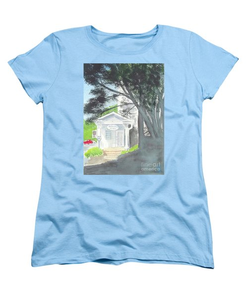 Women's T-Shirt (Standard Cut) featuring the painting Wellers Carriage House 1 by Yoshiko Mishina