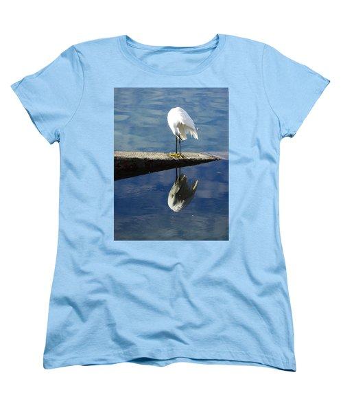 White Heron Women's T-Shirt (Standard Cut) by Anne Mott