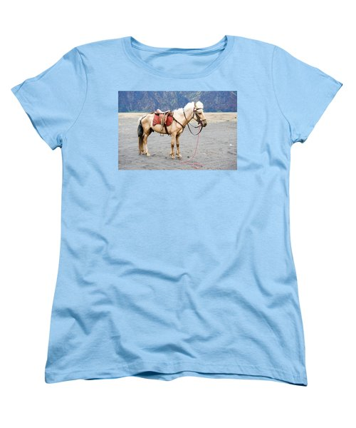 Women's T-Shirt (Standard Cut) featuring the photograph White Horse by Yew Kwang