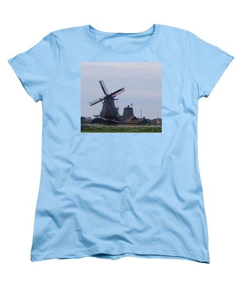 Women's T-Shirt (Standard Cut) featuring the photograph Windmill by Manuela Constantin