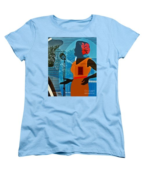 Women's T-Shirt (Standard Cut) featuring the photograph Window To My Soul by Barbara McMahon