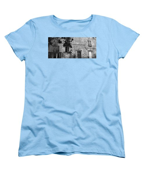 Women's T-Shirt (Standard Cut) featuring the photograph Crumbling In Croatia by Andy Prendy
