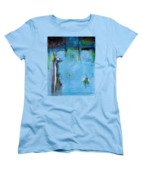 Women's T-Shirt (Standard Cut) featuring the painting Winter by Nicole Nadeau