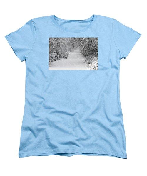 Women's T-Shirt (Standard Cut) featuring the photograph Winter's Trail by Elizabeth Winter