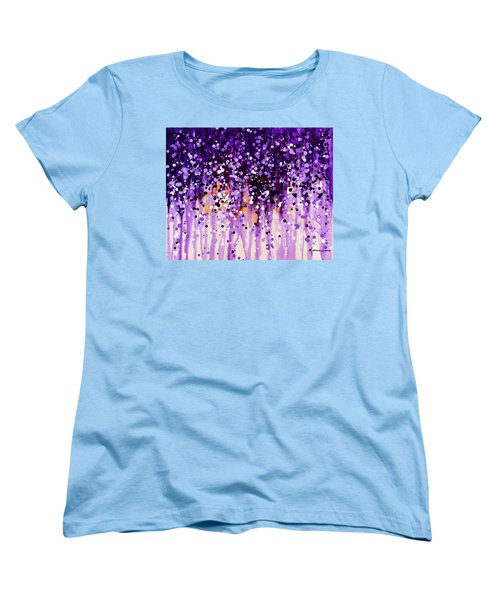 Women's T-Shirt (Standard Cut) featuring the painting Wisteria by Kume Bryant