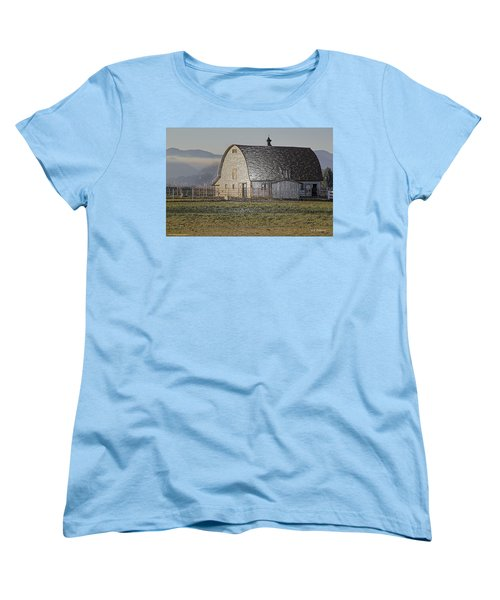 Wrapped Barn Women's T-Shirt (Standard Cut) by Mick Anderson