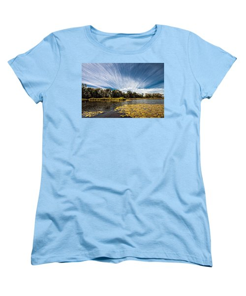 Women's T-Shirt (Standard Cut) featuring the photograph You Cannot Be Cirrus by Tom Gort