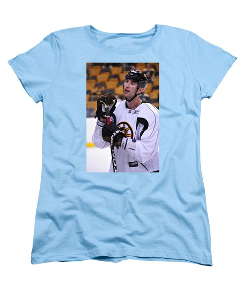 Women's T-Shirt (Standard Cut) featuring the photograph Zdeno Chara Takes A Break by Mike Martin