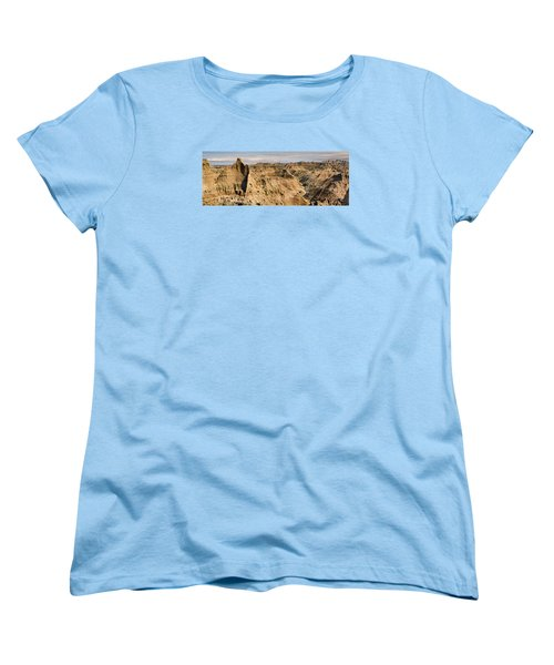 Women's T-Shirt (Standard Cut) featuring the photograph  Badlands South Dakota by John Hix