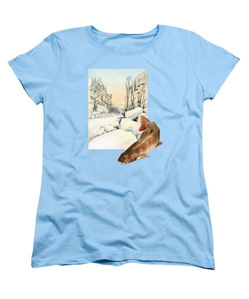 Lenok Women's T-Shirt (Standard Cut) by Alexandra Panaiotidi