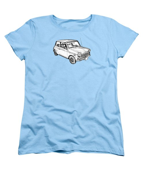 Mini Cooper Illustration Women's T-Shirt (Standard Cut) by Keith Webber Jr