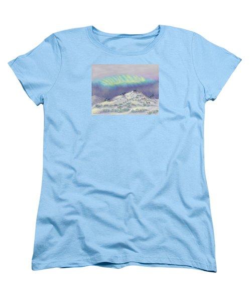 Peaceful Snowy Sunrise Women's T-Shirt (Standard Cut) by Dawn Senior-Trask