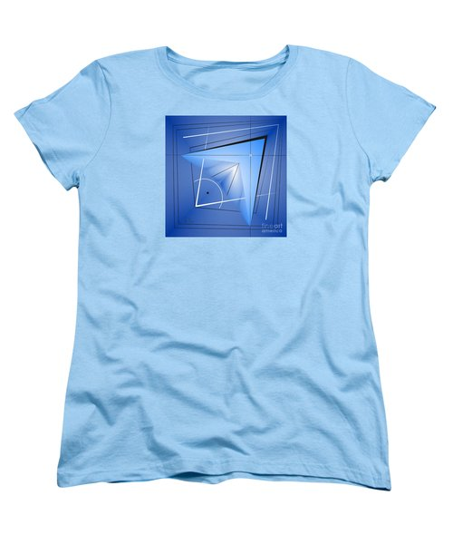 Women's T-Shirt (Standard Cut) featuring the digital art  Structural Limitations Of Thought by Leo Symon