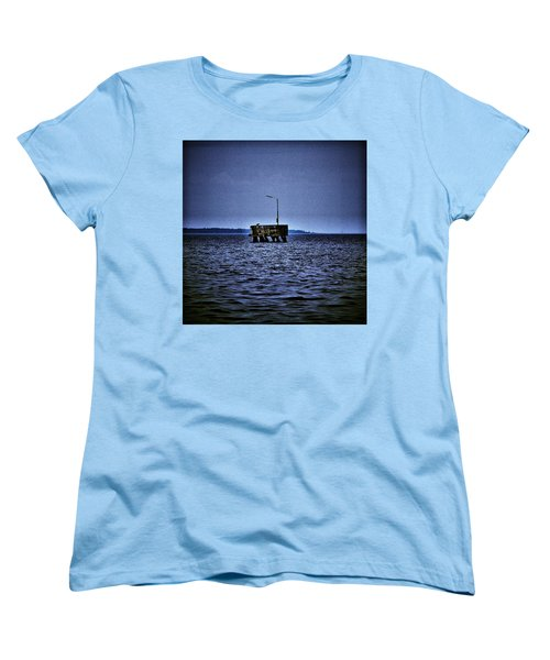 Women's T-Shirt (Standard Cut) featuring the photograph  The Dock Of Loneliness by Jouko Lehto