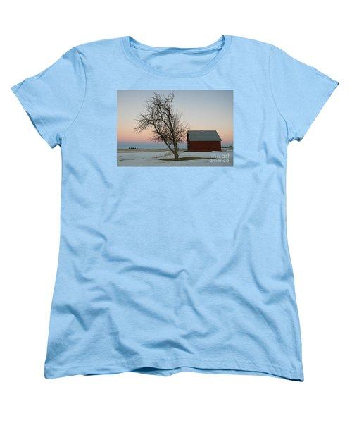 Winter In Rural America Women's T-Shirt (Standard Cut)