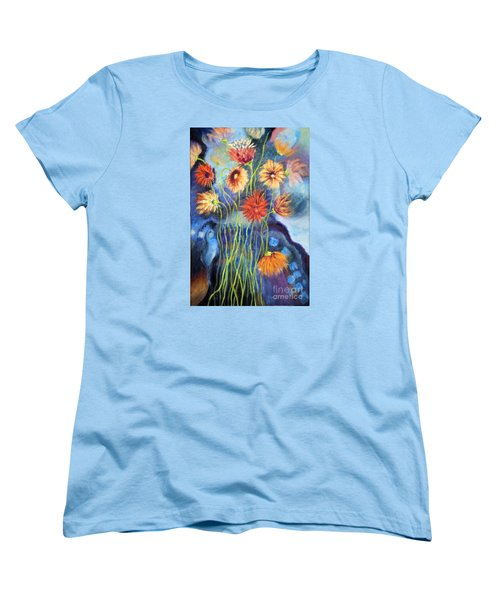 01314 African Daisies Women's T-Shirt (Standard Cut) by AnneKarin Glass