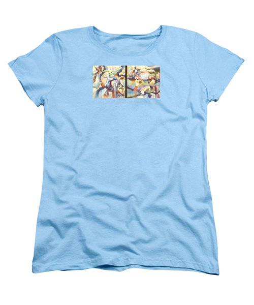 01315 Light Year Diptych Women's T-Shirt (Standard Cut) by AnneKarin Glass