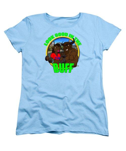 08 Look Good In The Buff Women's T-Shirt (Standard Cut) by Michael Frank Jr
