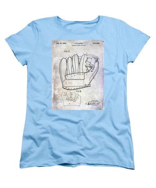 1943 Baseball Glove Patent Women's T-Shirt (Standard Cut) by Jon Neidert