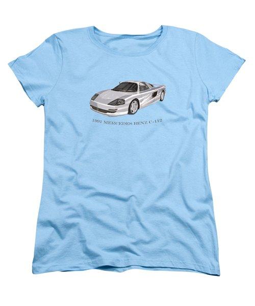 1991 Mercedes Benz C 112 Women's T-Shirt (Standard Cut) by Jack Pumphrey