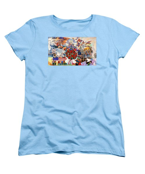 9/11 Memorial Women's T-Shirt (Standard Cut) by Bonnie Siracusa