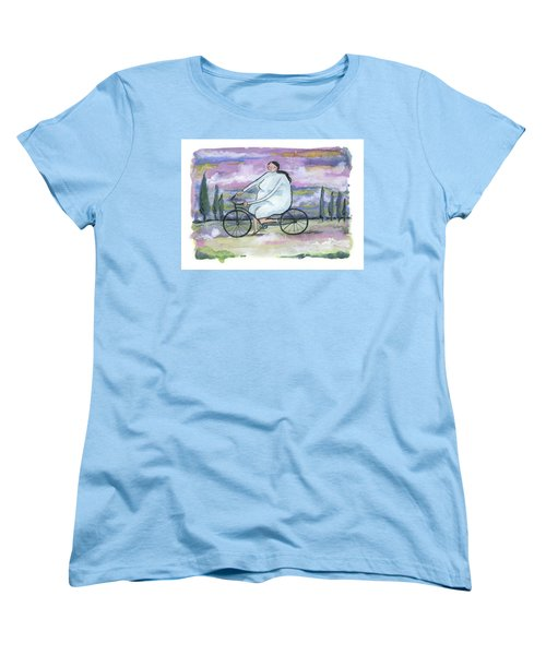 A Beautiful Day For A Ride Women's T-Shirt (Standard Cut) by Leanne WILKES