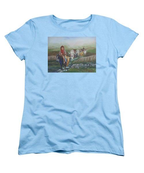 Along The Bozeman Trail Women's T-Shirt (Standard Cut)