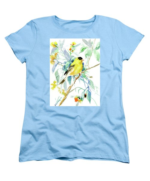 American Goldfinch Women's T-Shirt (Standard Cut) by Suren Nersisyan