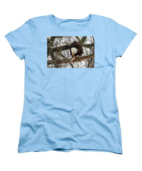 An Eagles Meal Women's T-Shirt (Standard Cut) by Brook Burling