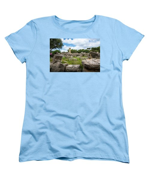Ancient Olympia / Greece Women's T-Shirt (Standard Cut) by Stavros Argyropoulos